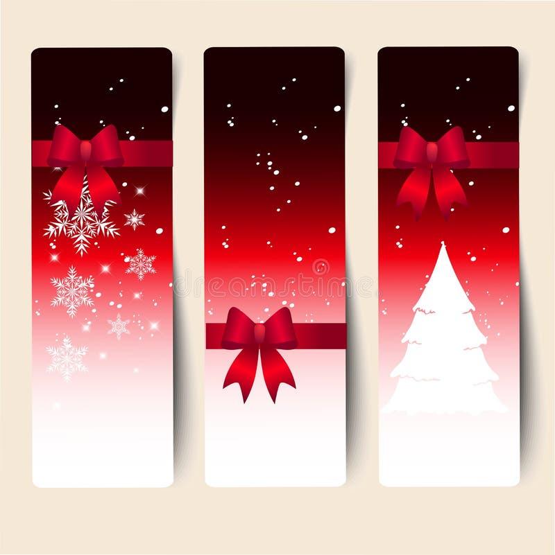 Bandera decorativa colorida de la Navidad libre illustration