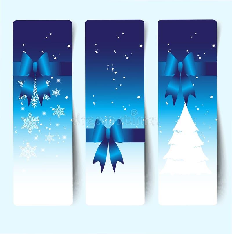 Bandera decorativa colorida de la Navidad ilustración del vector