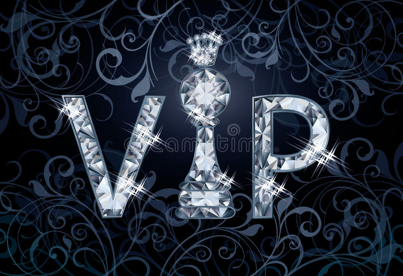 Bandera del ajedrez del VIP del diamante libre illustration