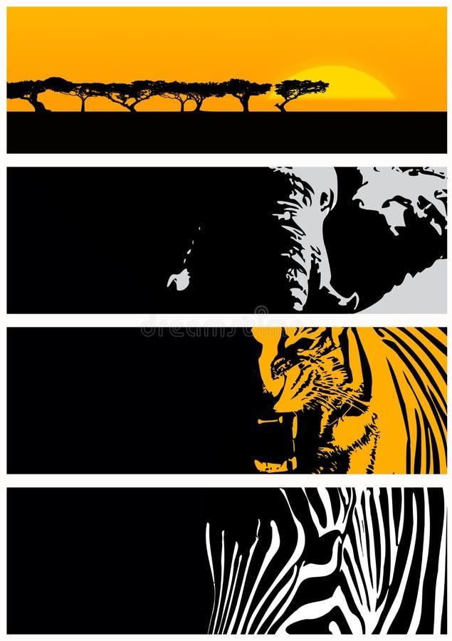 Bandera del animal salvaje stock de ilustración