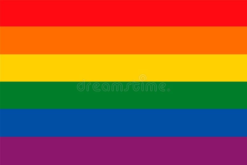 Bandera del arco iris como fondo libre illustration