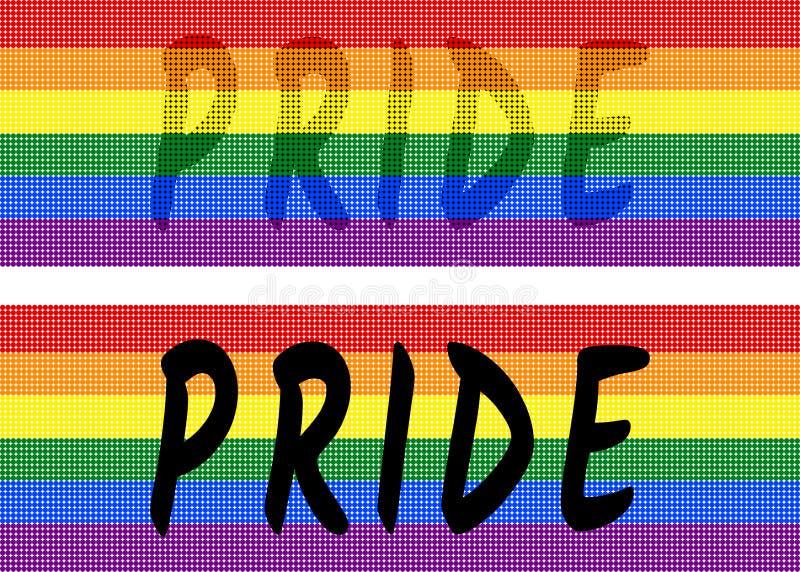 Bandera del arco iris de la textura colorida de los puntos en fondo blanco transparente los colores simbólicos bandera del orgull libre illustration