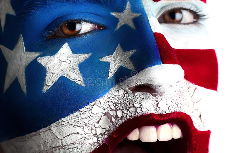 Bandera del arte de la cara foto de archivo
