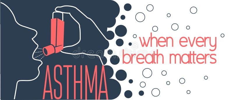 Bandera del asma stock de ilustración