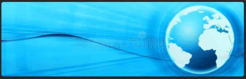 Bandera del asunto y de la tecnología, cabecera stock de ilustración