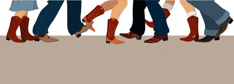 Bandera del baile de país libre illustration