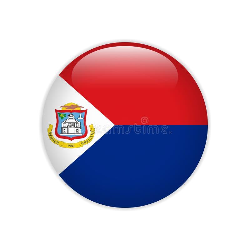 Bandera del bot?n de Sint Maarten libre illustration