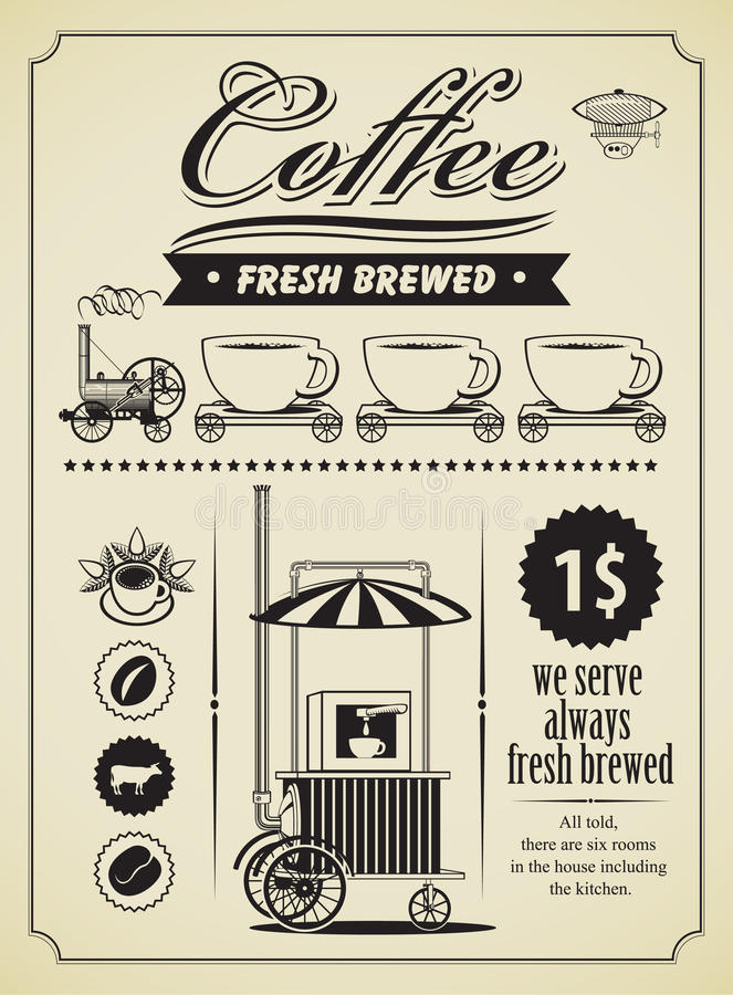Bandera del café libre illustration