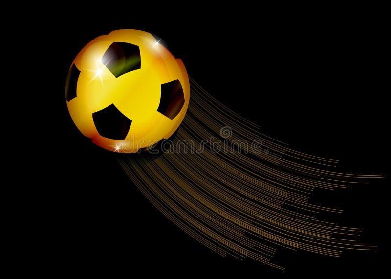 Bandera del campeonato del fútbol Vector el ejemplo del balón de fútbol de oro abstracto para su diseño ilustración del vector