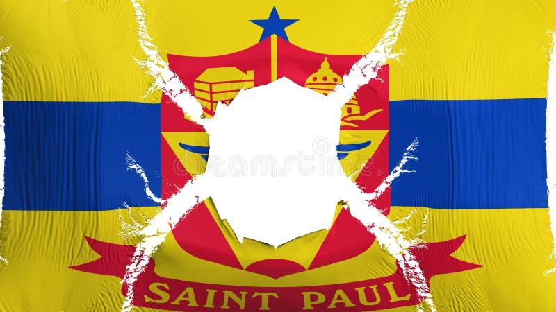 Bandera del capital de Saint Paul con un agujero ilustración del vector
