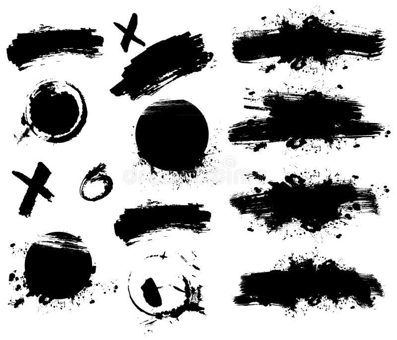 Bandera del chapoteo ilustración del vector