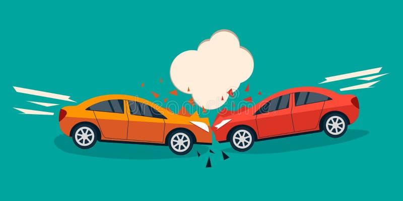 Bandera del choque de coche ilustración del vector