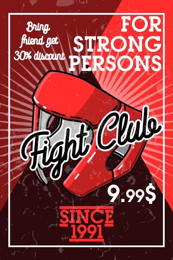 Bandera del club de la lucha del vintage del color libre illustration
