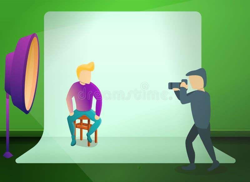Bandera del concepto de la sesión de foto del estudio, estilo de la historieta libre illustration