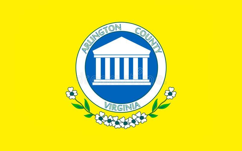 Bandera del condado de Arlington en Virginia, los E.E.U.U. imágenes de archivo libres de regalías