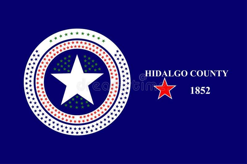 Bandera del condado de Hidalgo en Tejas en Estados Unidos stock de ilustración