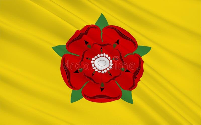 Bandera del condado de Lancashire, Inglaterra foto de archivo
