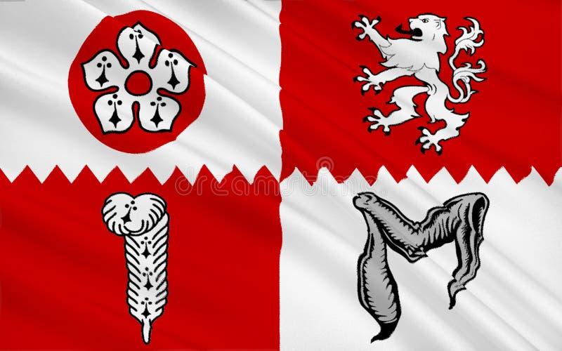 Bandera del condado de Leicestershire, Inglaterra fotografía de archivo