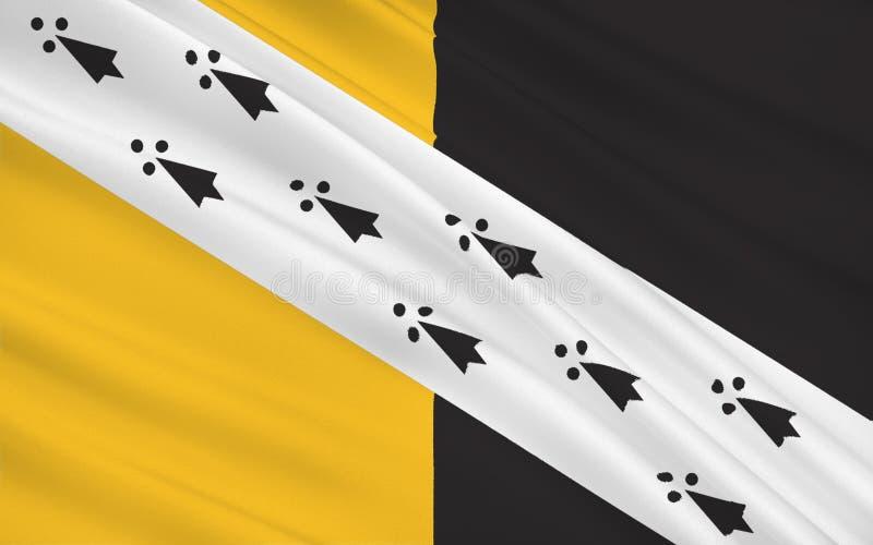 Bandera del condado de Norfolk, Inglaterra stock de ilustración