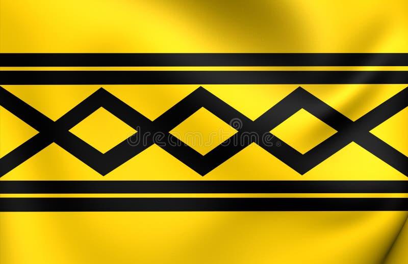 Bandera del condado de West Midlands, Inglaterra libre illustration