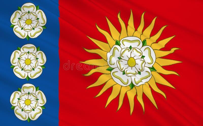 Bandera del condado de West Yorkshire, Inglaterra libre illustration