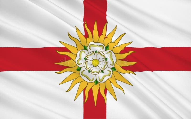 Bandera del condado de West Yorkshire, Inglaterra stock de ilustración