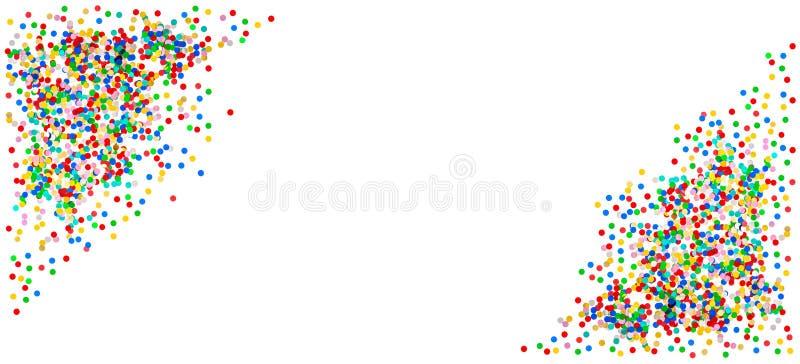 Bandera del confeti Cumpleaños, carnaval, decoración de la celebración de días festivos fotos de archivo libres de regalías