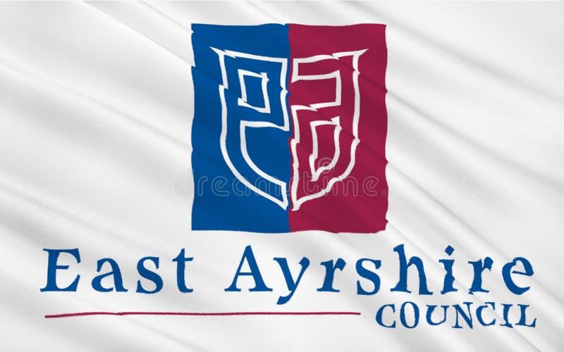 Bandera del consejo del este de Ayrshire de Escocia, Reino Unido de Gre libre illustration