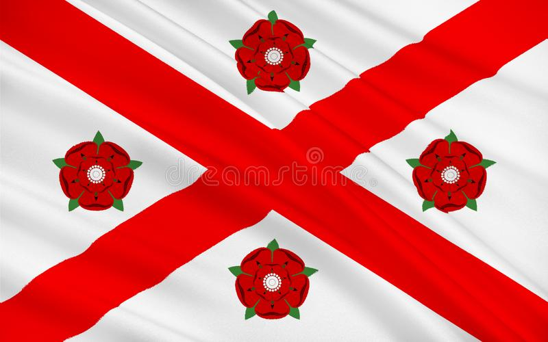 Bandera del consejo del este de Ayrshire de Escocia, Reino Unido de Gre stock de ilustración