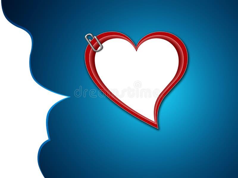 Bandera del corazón del amor fotos de archivo