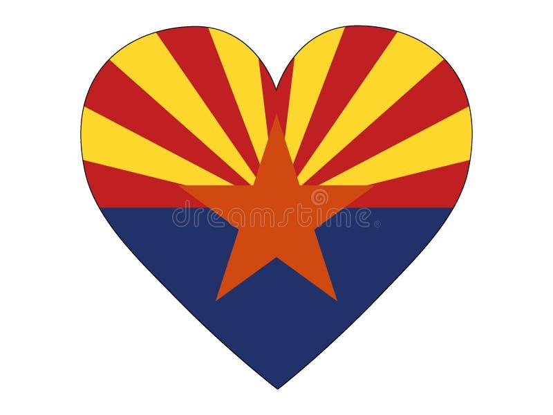 Bandera del corazón del estado de los E.E.U.U. de Arizona libre illustration