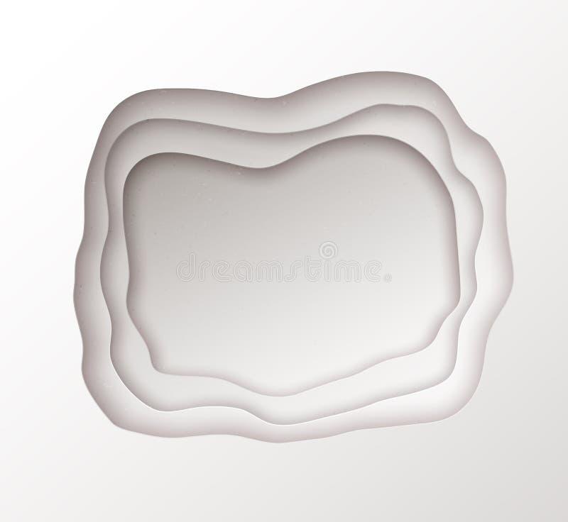 Bandera del corte del papel con efecto acodado libre illustration