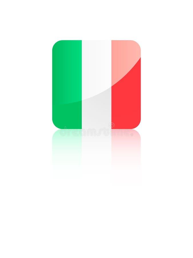 bandera del cuadrado 3D de Italia stock de ilustración