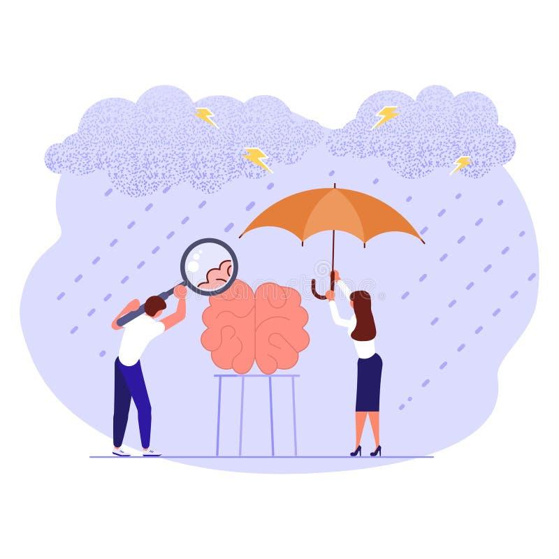 Bandera del día de la salud mental libre illustration