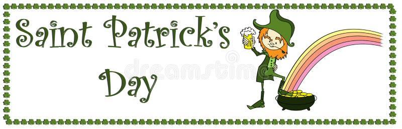Bandera Del Día De Sain Patrick Imagen de archivo libre de regalías