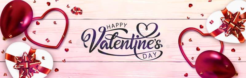 Bandera del día de tarjetas del día de San Valentín libre illustration