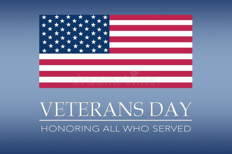 Bandera del día de veteranos foto de archivo