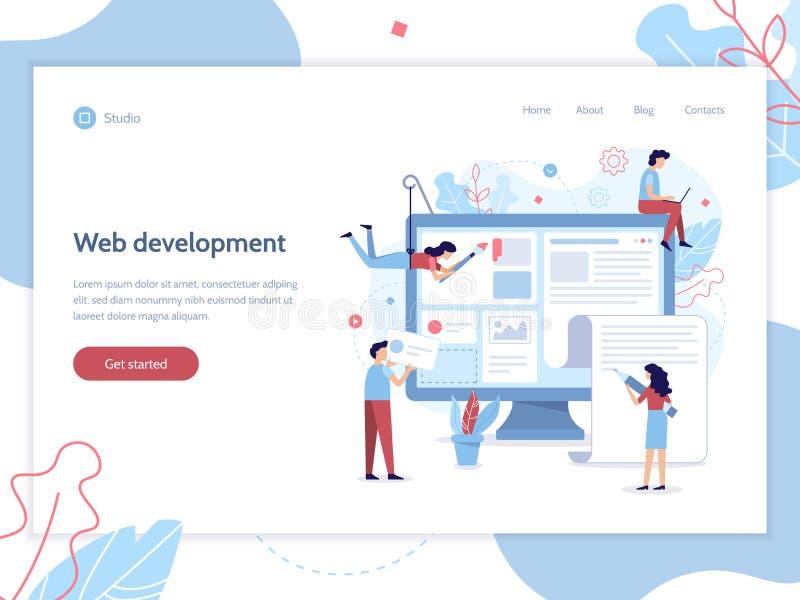 Bandera del desarrollo web ilustración del vector