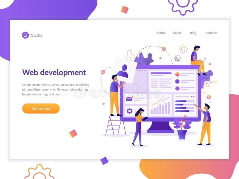 Bandera del desarrollo web stock de ilustración