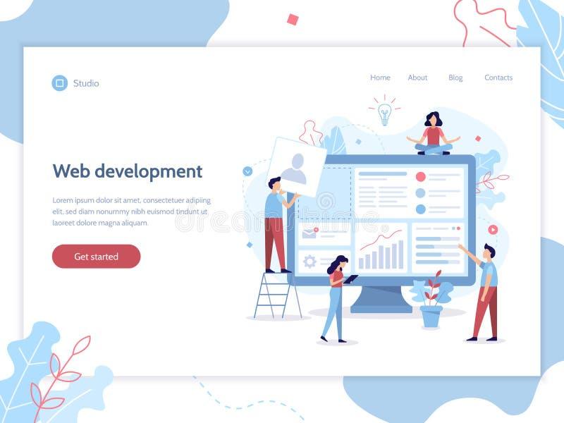 Bandera del desarrollo web libre illustration