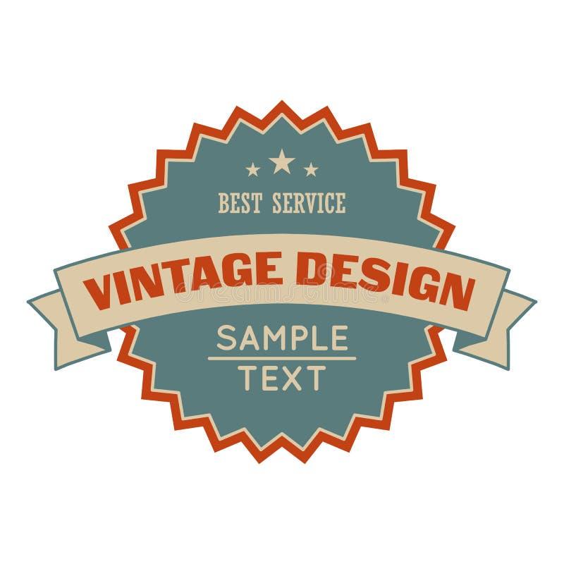 Bandera del diseño del vintage de la venta ilustración del vector