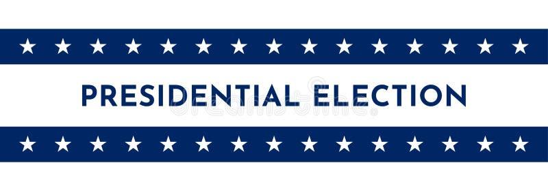 Bandera del ejemplo del vector con símbolos de los E.E.U.U. Pieza de las estrellas de la bandera americana Elección presidencial  libre illustration