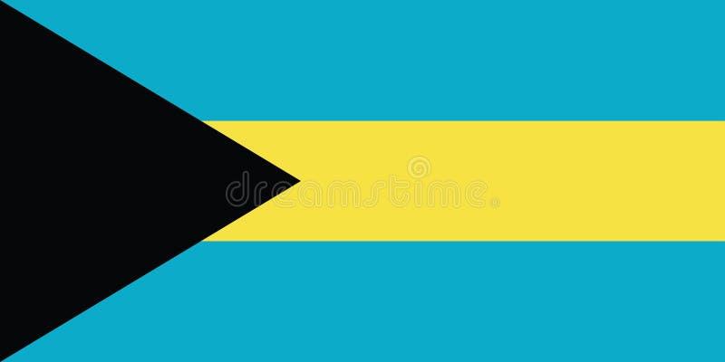 Bandera del ejemplo del vector de Bahamas stock de ilustración