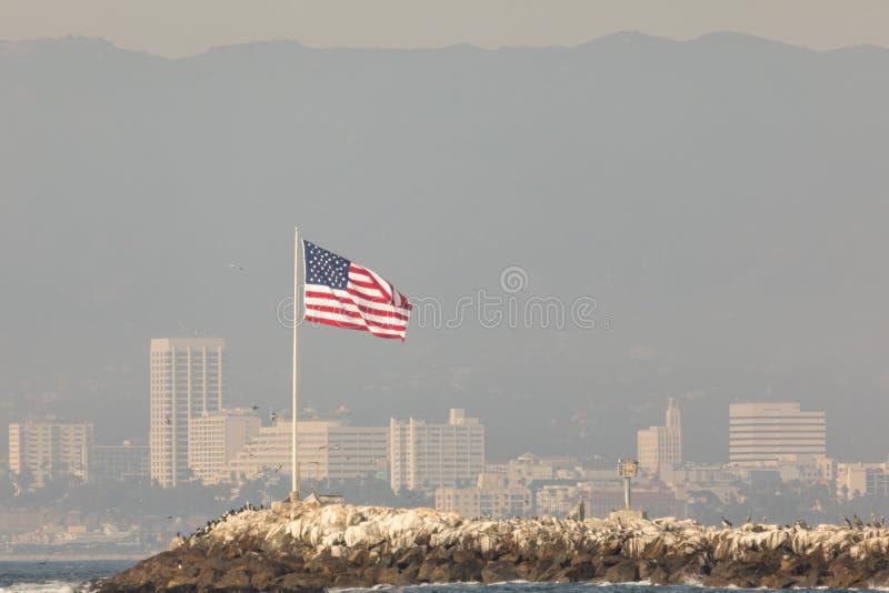 Bandera del embarcadero foto de archivo