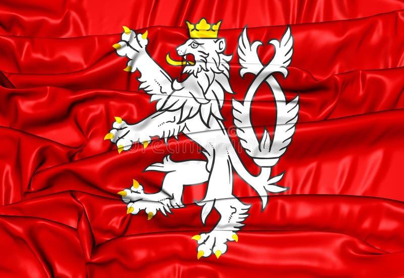 Bandera del escudo de armas de Bohemia, República Checa libre illustration