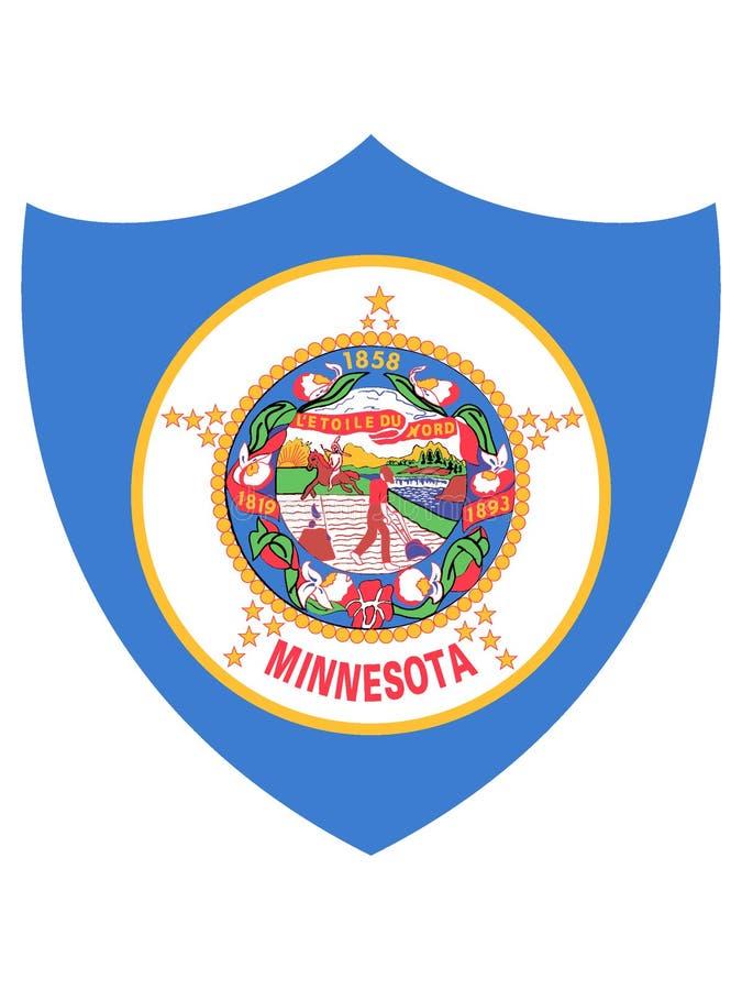 Bandera del escudo del estado de los E.E.U.U. de Minnesota ilustración del vector