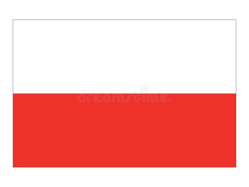 Bandera del estado austríaco de Austria septentrional ilustración del vector