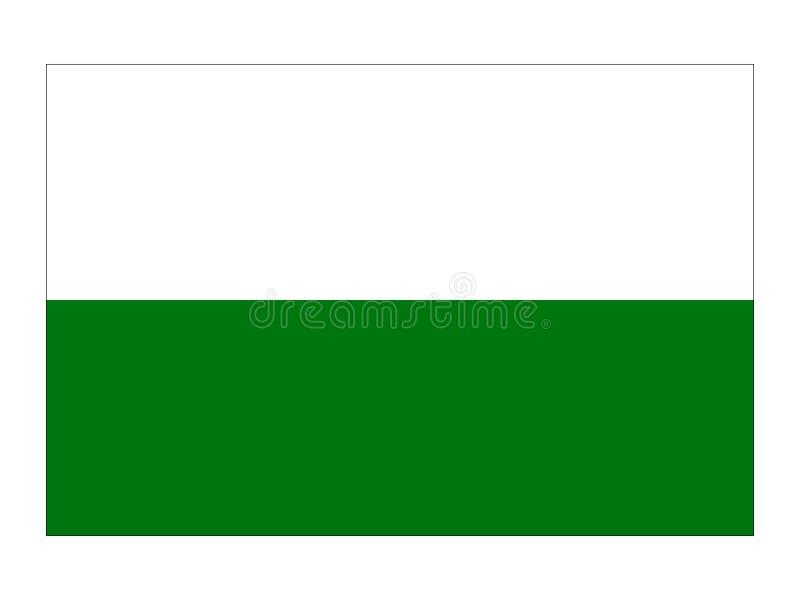 Bandera del estado austríaco de Estiria ilustración del vector