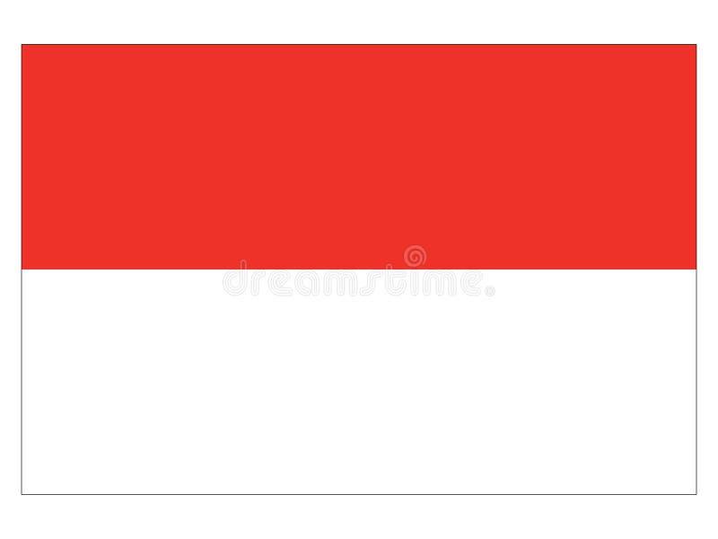 Bandera del estado austríaco de Salzburg stock de ilustración