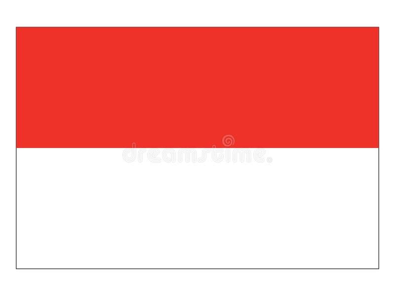 Bandera del estado austríaco de Viena stock de ilustración